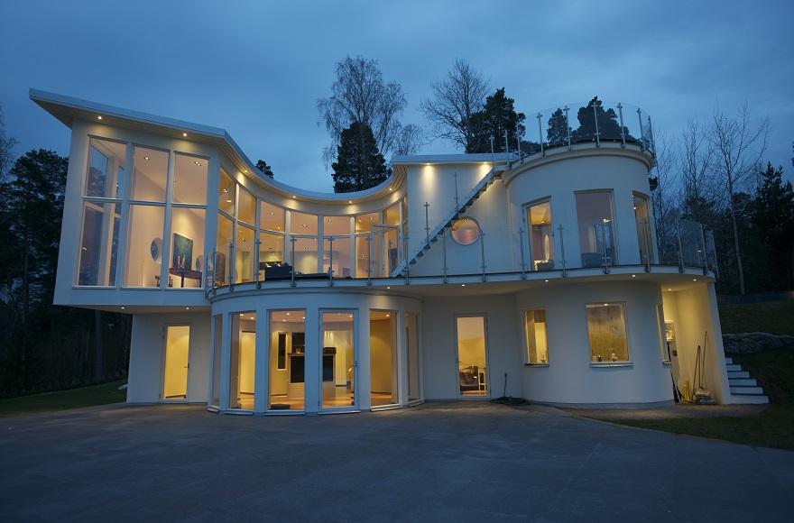 diseo residencia ultra moderna en estocolmo exterior de casas diseo exteriores casa sueca noche