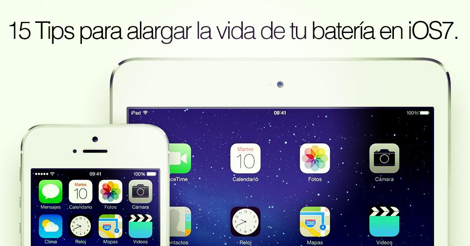 15 Tips para alargar la vida de tu batería en iOS7.