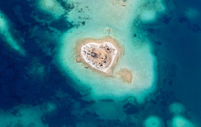 Fotografías aéreas -Isla