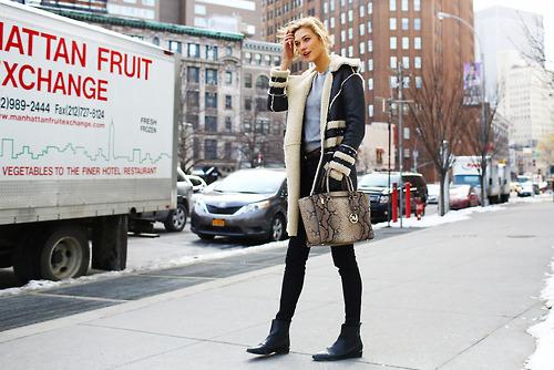El Streetstyle del #NYFW Karlie Kloss