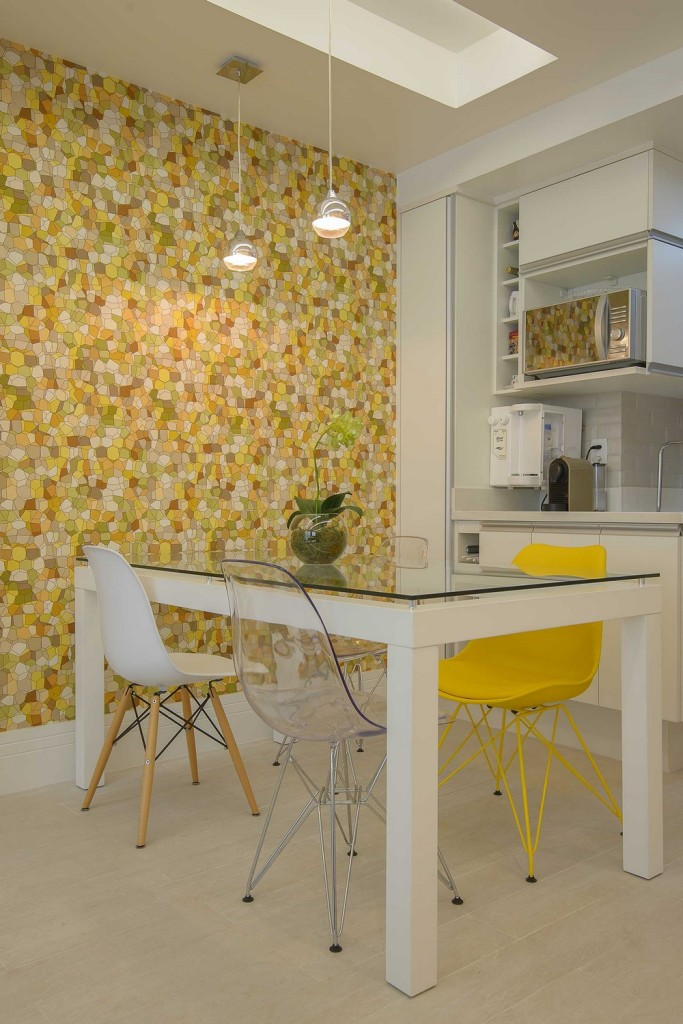 Ideas para espacios peque os departamento de 45m el124 for Comedor para espacios pequea os