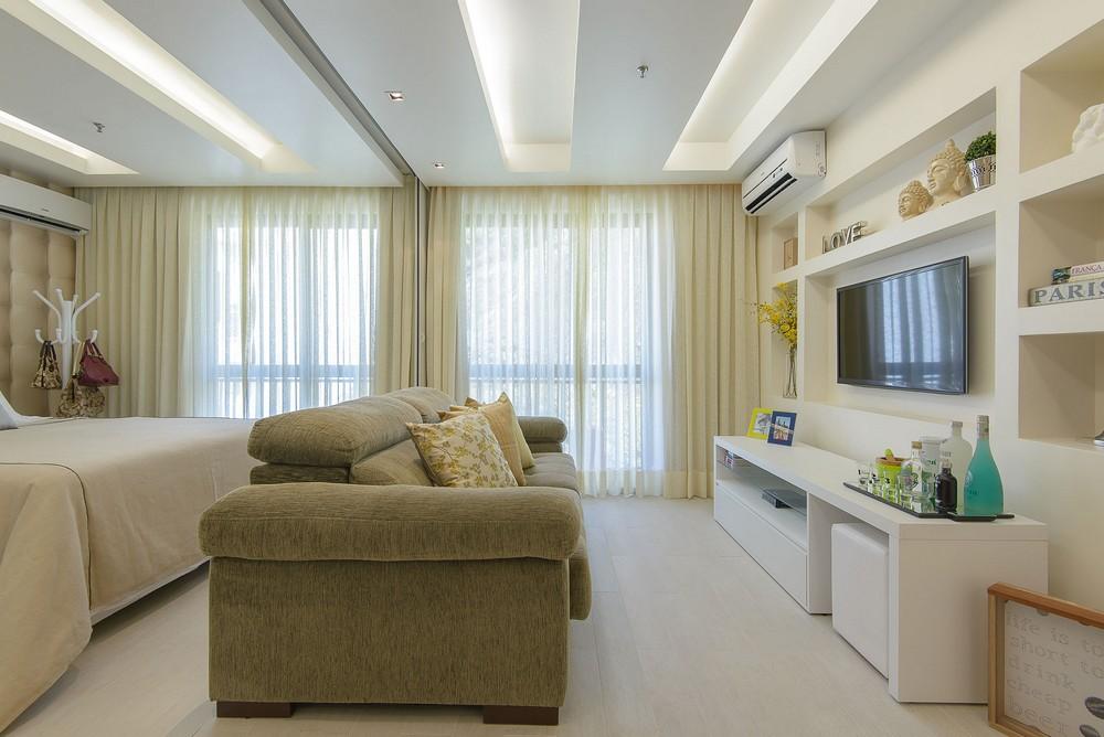 Ideas para espacios peque os departamento de 45m el124 for Salas para espacios pequenos
