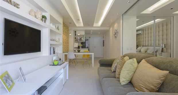 Ideas para espacios peque os departamento de 45m el124 for Decoracion minimalista para departamentos pequenos