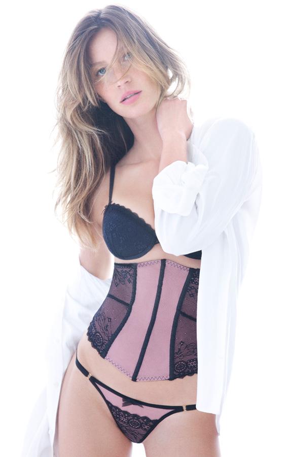 Gisele Bundchen sexy en fotos para su nueva marca de lencería