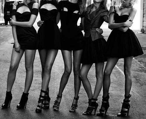 moda blanco y negro