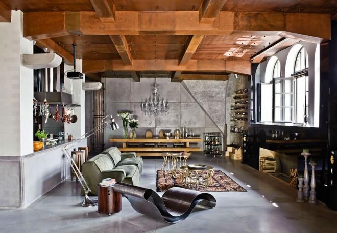 Dise o de interiores departamento tipo loft en budapest for Diseno de lofts interiores
