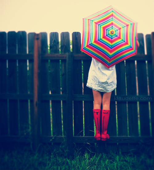 Moda Botas Para Lluvia Y Paraguas El124