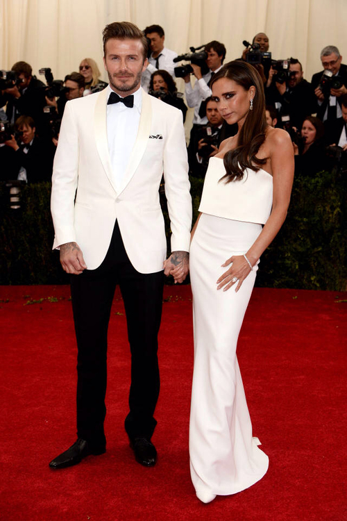 David Beckham y Victoria