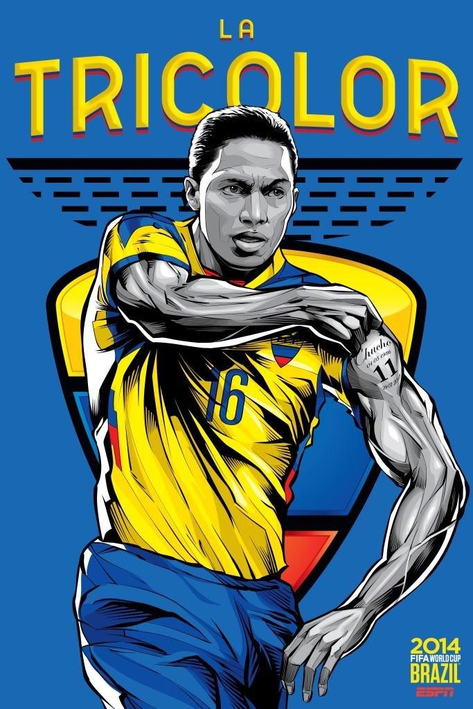 Sensacionales posters de las 32 selecciones del Mundial Brasil 2014