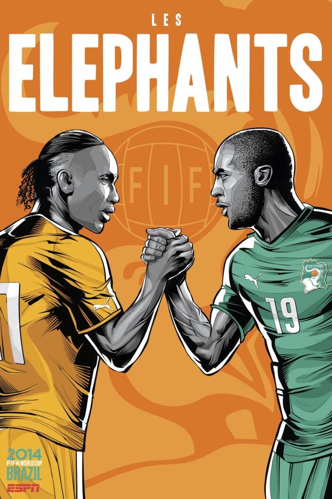 Sensacionales posters de las selecciones del Mundial Brasil 2014
