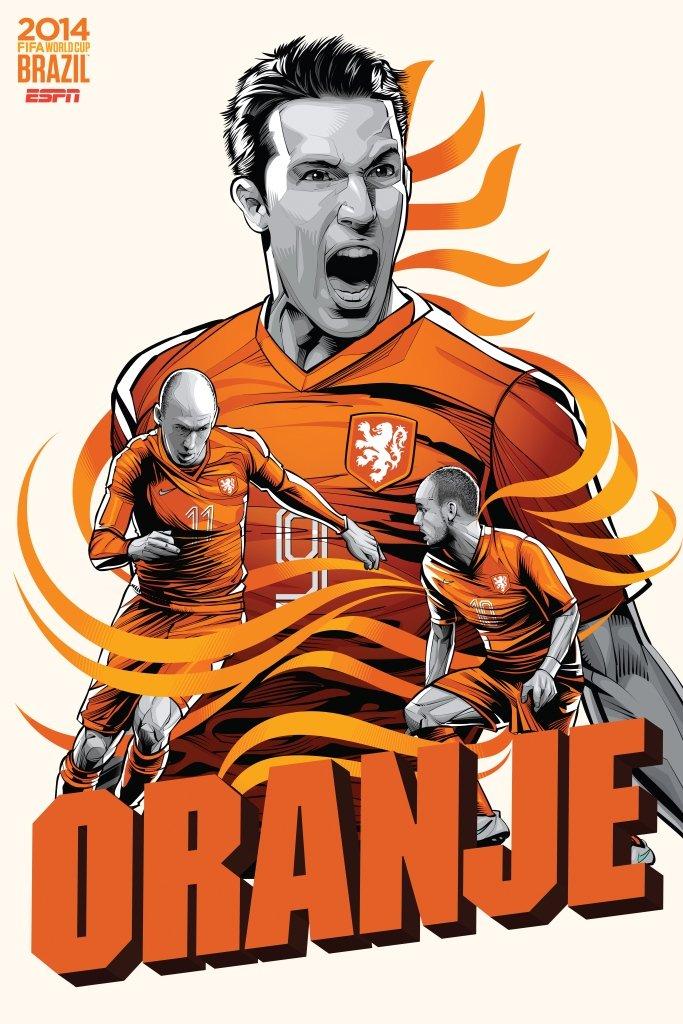 posters de las 32 selecciones del Mundial