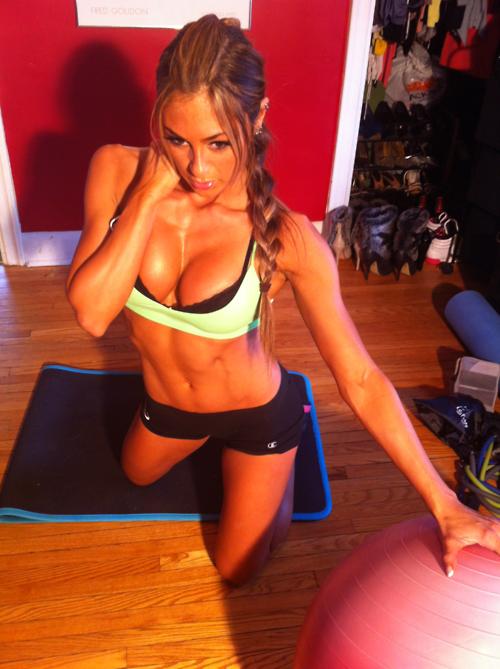 yoga pants y Sexy Abs la ecuación de un día perfecto