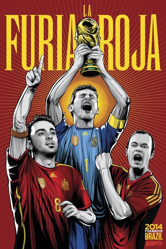 Sensacionales posters selecciones del Mundial Brasil 2014