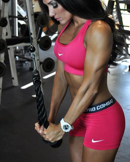 El calor en el gimnasio no es un problema con las chicas del gym
