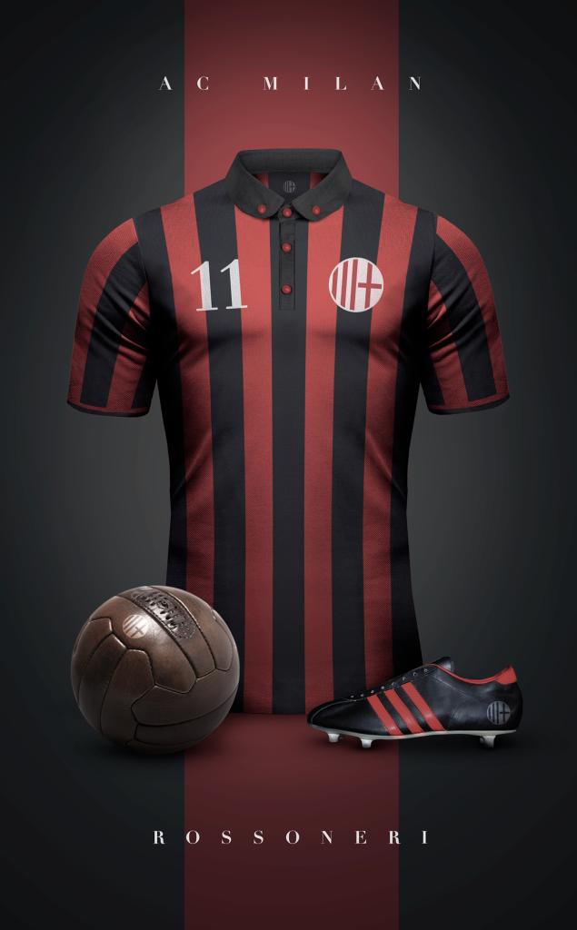 AC Milan Fútbol Vintage