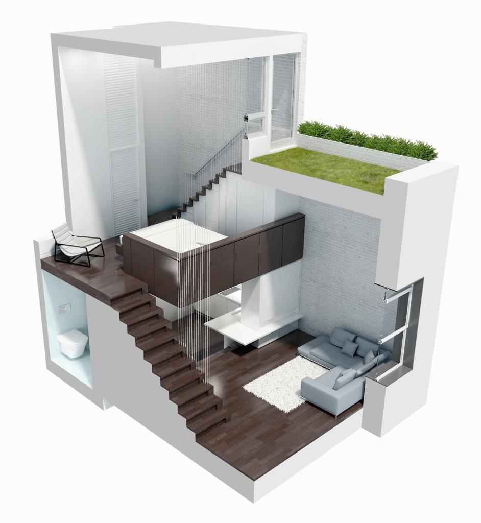 Arquitectura: Increíble Mini Departamento.