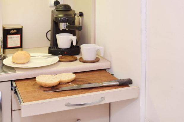 Increíble Mini Departamento para un soltero tan solo 13m² - Cocina