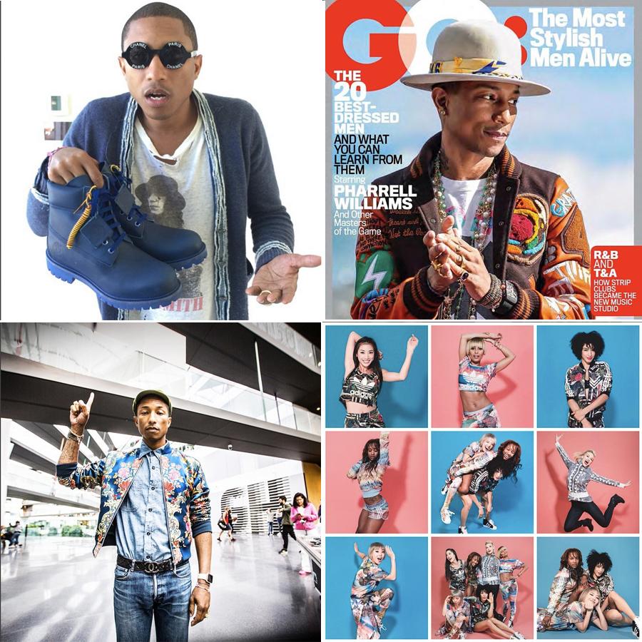 Moda para hombres en Instagram @pharrell