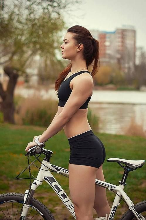 Sexy girl bicycle clothes