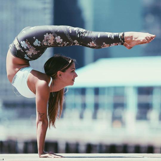 Al gimnasio en Yoga Pants