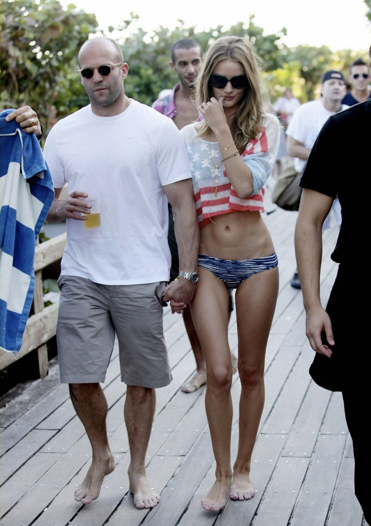 Jason Statham y Rosie Huntington