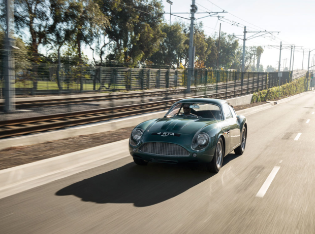 Impresionante clásico Aston Martin DB4GT Zagato