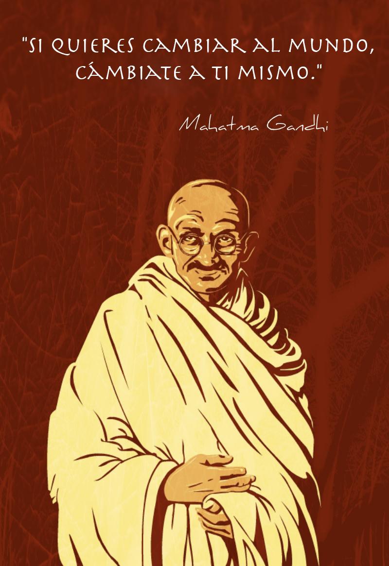 Sal y cambia el mundo con estas 8 Frases de Mahatma Gandhi