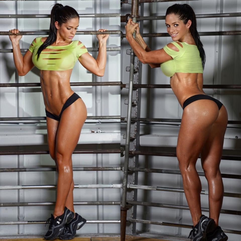 Michelle Lewin la más sexy del gym