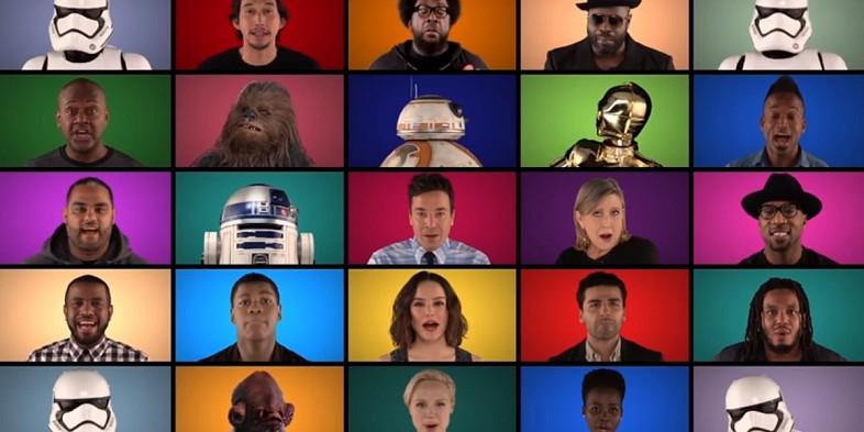 Jimmy Fallon y el soundtrack de Star Wars a capella