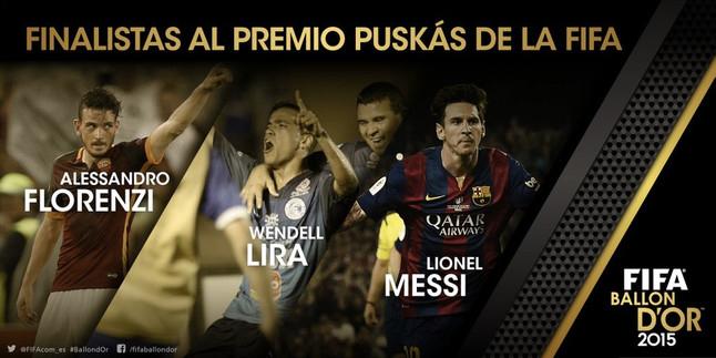 Los 3 mejores goles del año en 2015