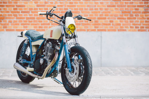 Increíble Yamaha SR500 personalizada