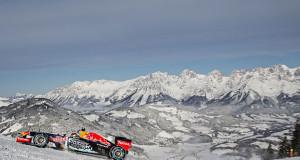Max Verstappen y su F1 en la nieve