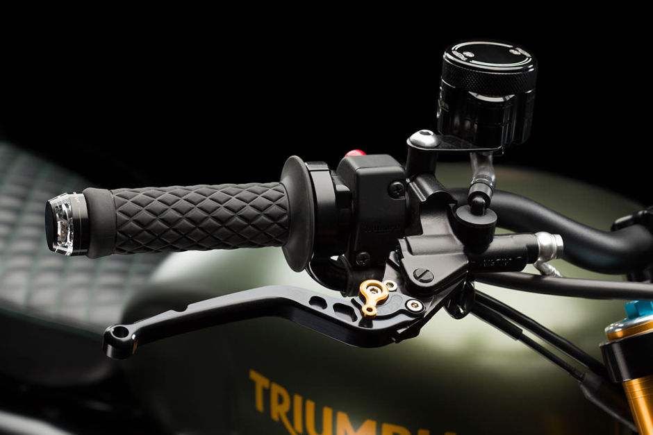 Genial e increíble Triumph Scrambler llamada The Hunter