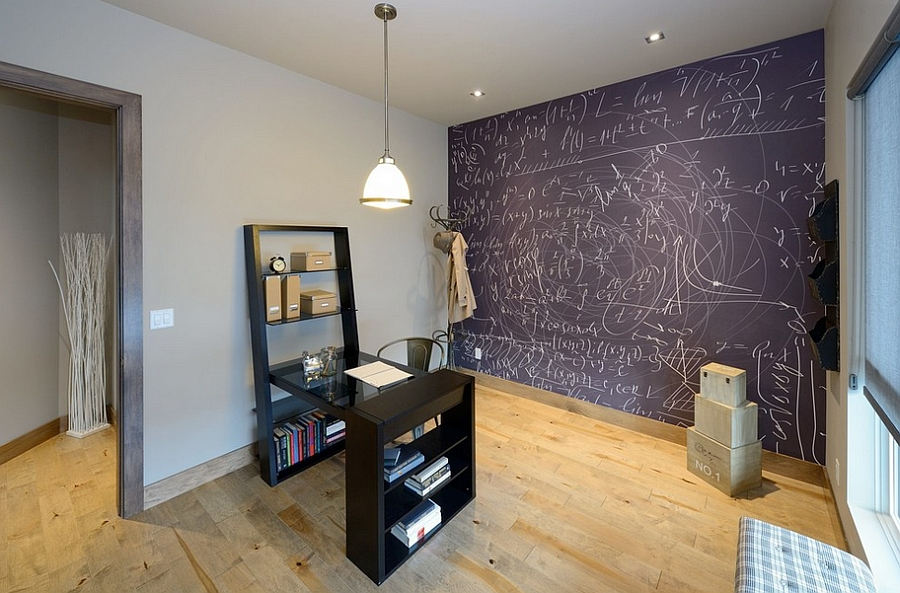 20 Formas de agregar un pizarrón a tu oficina en casa