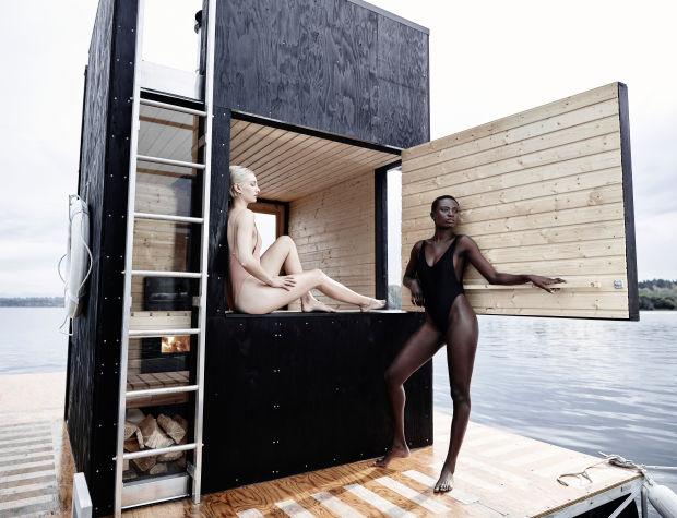 Un sauna flotante para este fin de semana