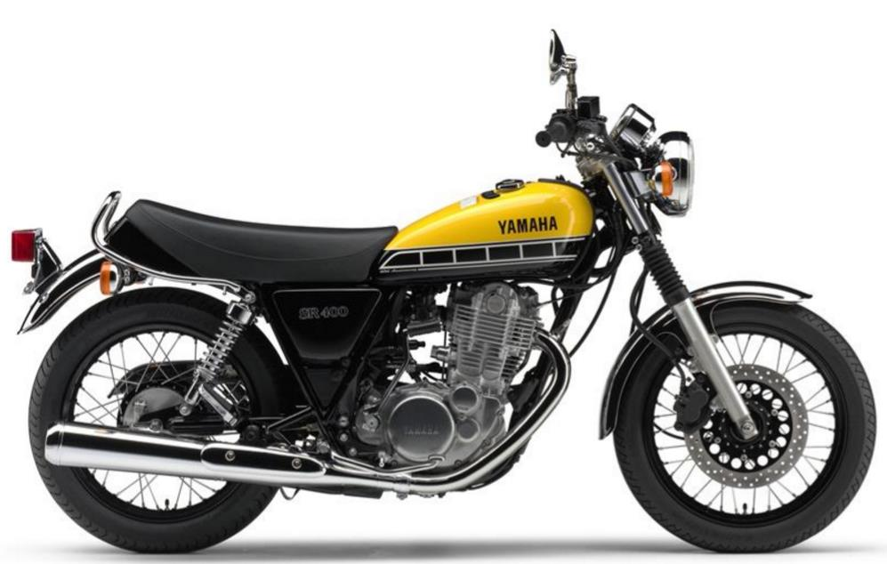 Yamaha SR400 customizada a la media