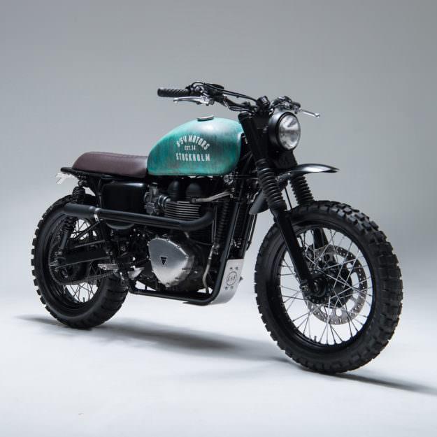 Sexy e increíble Triumph Bonneville reconstruida