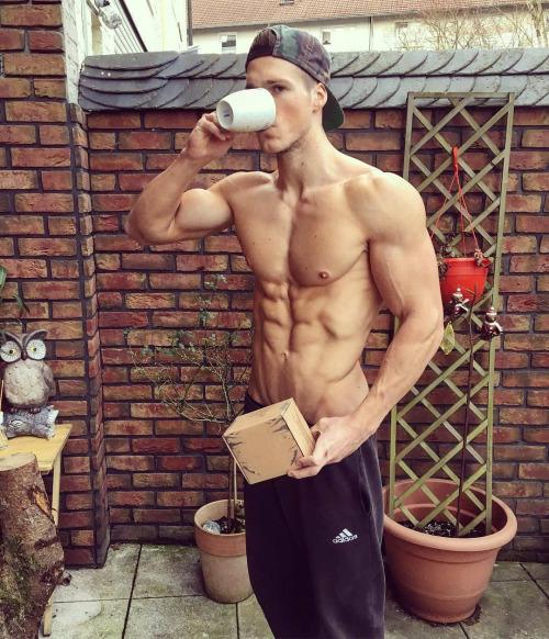 Hombres fitness del gimnasio y la vida - Abs