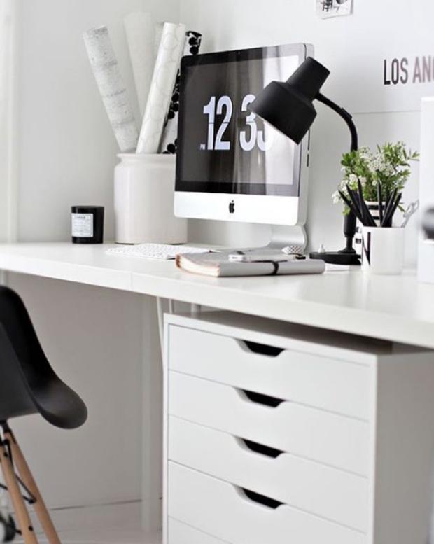Inspiración en decoración de interiores de oficinas #60 - Blanco