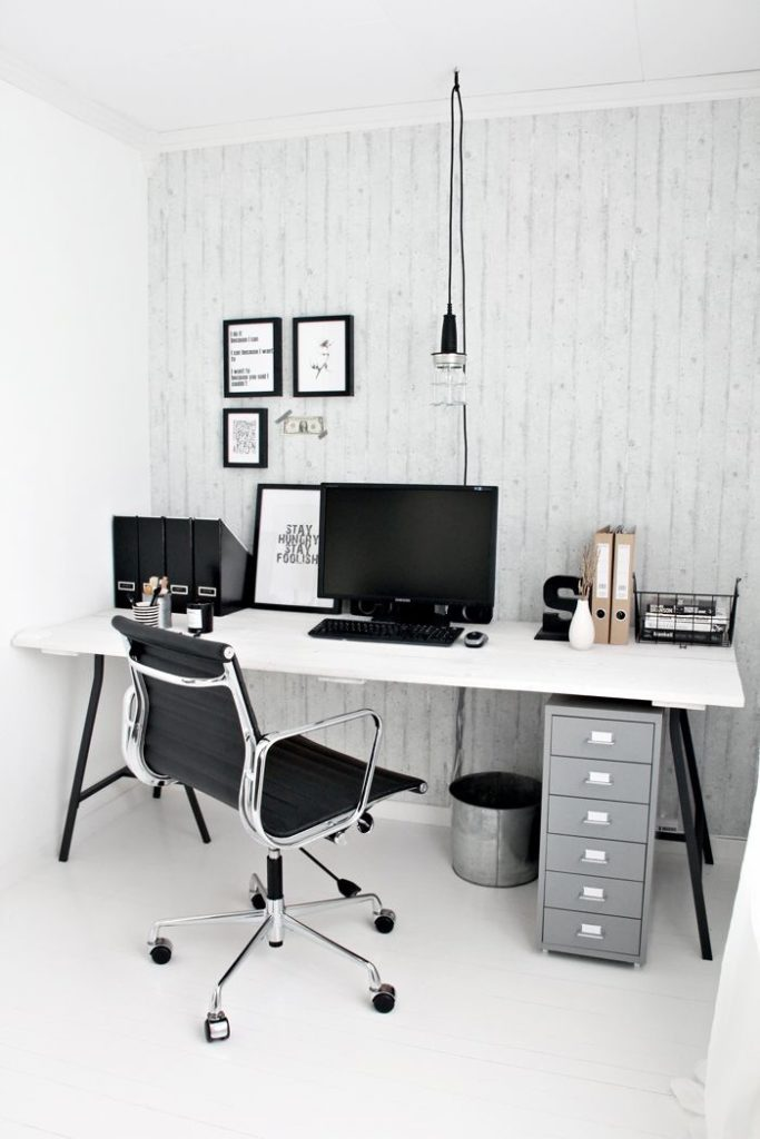 Dise o de interiores el centro de toda oficina est en el for Escritorios para oficina en casa