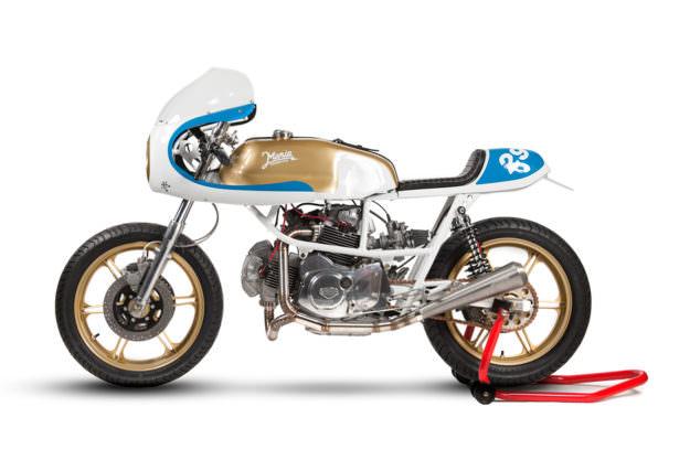 Preciosa Ducati Pantah 500 reconstruida