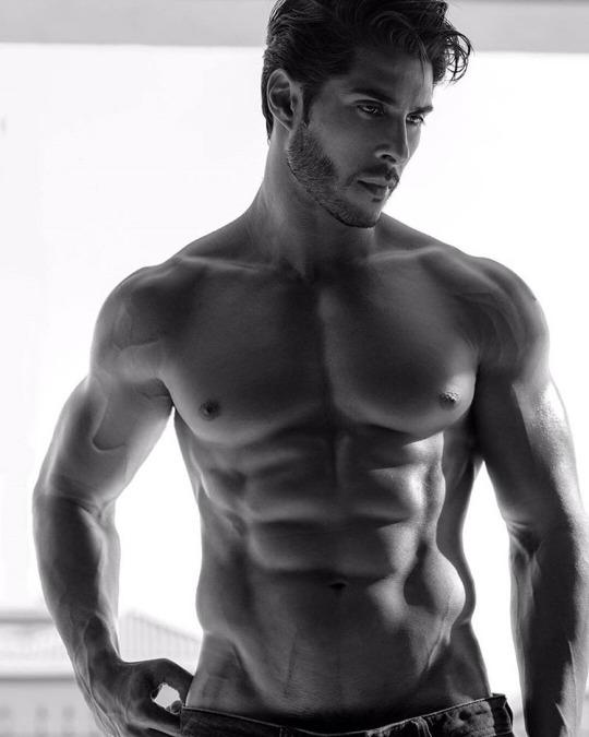 Músculos marcados y definidos la meta de los hombres fitness - Abdomen marcado