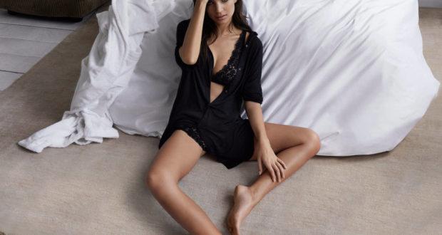 Emily Ratajkowski lencería para DKNY