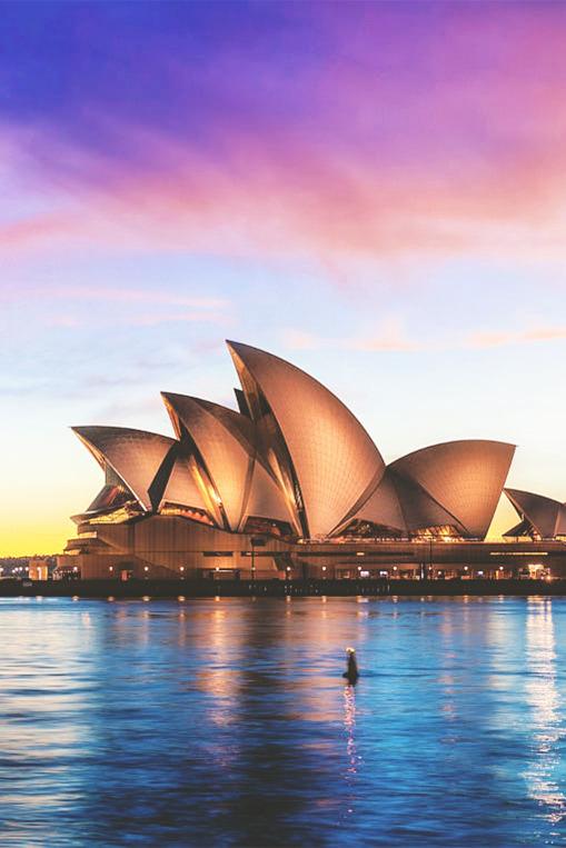 Viajes y mundo. Opera House Sydney, Australia