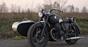 Increíble Moto Guzzi V9 con sidecar un clásico de clásicos