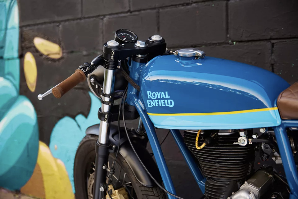 Una motocicleta reconstruida e impresionante la Royal Enfield Continental GT