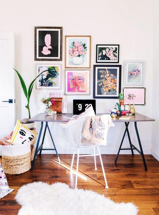 Ideas de decoración para oficinas en el hogar #106