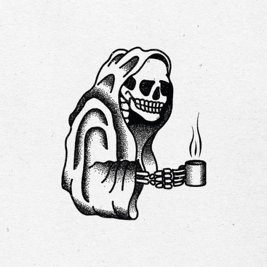 La muerte toma café